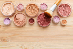 Makeup powder background stock images