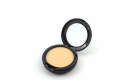 Makeup powder in Black case. Stock Photography