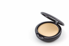 Makeup powder in Black case. Stock Photo