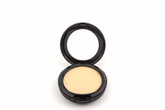 Makeup powder in Black case. Royalty Free Stock Images