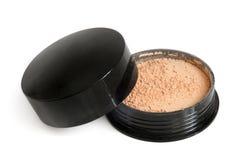 Makeup powder in box Stock Photos