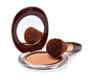 Makeup Powder and Brush Royalty Free Stock Image