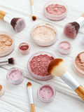 Makeup powder products Royalty Free Stock Images