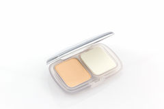 Makeup powder in white case. Stock Images