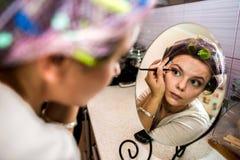 Makeup proces Zdjęcia Stock