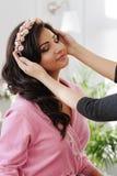 Makeup process Stock Photo