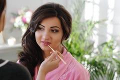 Makeup process Stock Photography