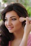 Makeup process Royalty Free Stock Images
