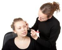 Makeup process shot �20 royalty free stock photos