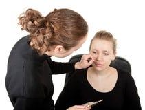 Makeup Process Shot �15 Stock Photography