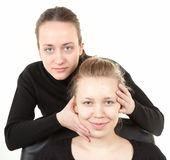 Makeup process  shot �6 Royalty Free Stock Image