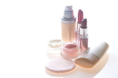 Makeup products stock image