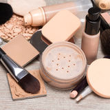 Makeup products to even out skin tone and complexion Royalty Free Stock Photos
