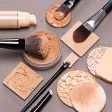Makeup products to even out skin tone and complexion Royalty Free Stock Images