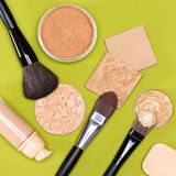 Makeup products to even out skin tone and complexion Stock Photography