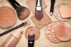 Makeup products to even out skin tone and complexion Royalty Free Stock Photo