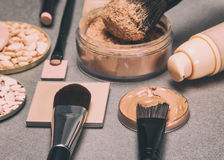 Makeup products to even skin tone and complexion Royalty Free Stock Image
