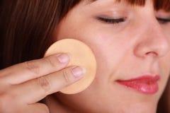 makeup proszek Obrazy Royalty Free