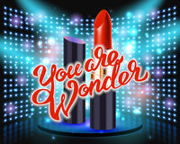 Makeup red lipstick advertising Royalty Free Stock Photography