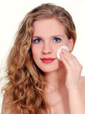 Makeup removal Royalty Free Stock Image