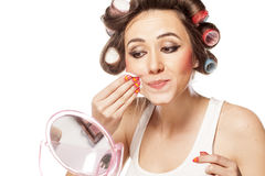 Makeup removing Stock Image