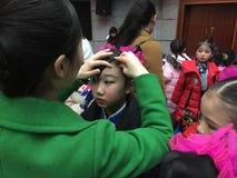 makeup 2017 rocznych Pekin tana akademii ocenia próbną znakomitą dziecka ` s tana nauczania osiągnięcia wystawę Jiangxi Obraz Stock