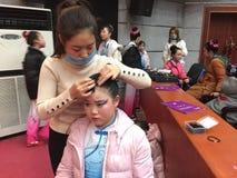 makeup 2017 rocznych Pekin tana akademii ocenia próbną znakomitą dziecka ` s tana nauczania osiągnięcia wystawę Jiangxi Fotografia Royalty Free