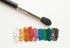 Makeup shadows Stock Images