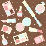 Makeup seamless pattern Royalty Free Stock Image