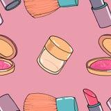 Makeup seamless pattern Stock Photo
