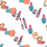Makeup seamless pattern Stock Images