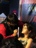 Makeup session. Its photo of makeup session.Venue - Professional Beauty Expo Mumbai, ndate- 6th Oct 2015 royalty free stock image