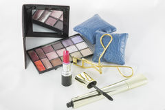 Makeup set. Accessories for beauty and body care Stock Image