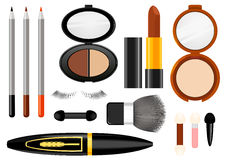Makeup. The set of cosmetic means for the creation of makeup, vector illustration Stock Photography