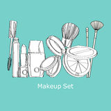 Makeup set. cosmetics Set Stock Photography