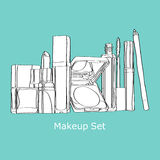 Makeup set. cosmetics Set Royalty Free Stock Image