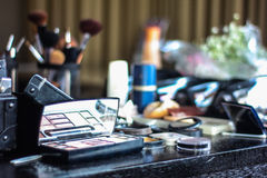Makeup set and cosmetics Stock Images