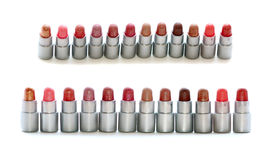 Makeup set of lipsticks Royalty Free Stock Photo