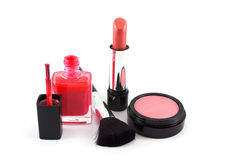 Makeup set. On white background Royalty Free Stock Photo
