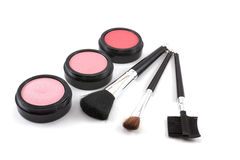 Makeup set. On white background Royalty Free Stock Photography