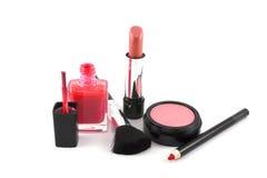 Makeup set. On white background Royalty Free Stock Photos
