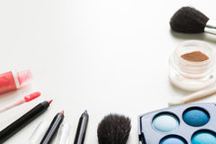 Makeup Set on White Stock Images