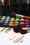 Makeup Sketching stock photo