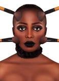 makeup Sminkframsida Royaltyfria Bilder