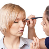 Makeup stage Stock Photography
