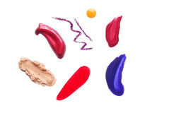 Makeup strokes color isolated Royalty Free Stock Photo