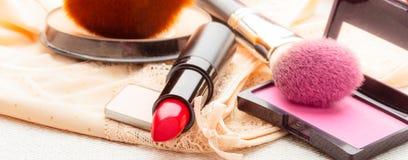 Makeup supplies various cosmetics. Stock Photography