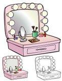 Makeup Table Stock Photo
