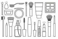 Makeup tools Icons Stock Photo