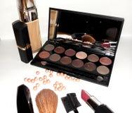 Make up artist set tools. stock images
